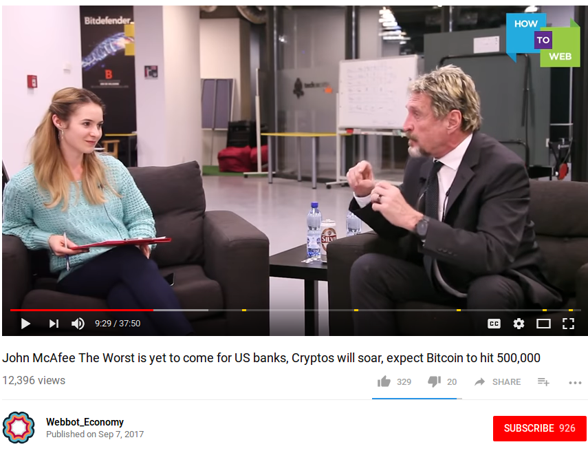 John McAfee Interview: Antivirus, Equifax 137 Million User Hack, US Banks & Bitcoin to $500K